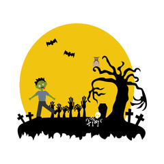 Halloween zombie illustration