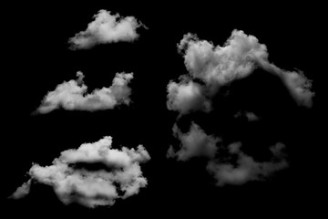 Clouds isolated on black baclground