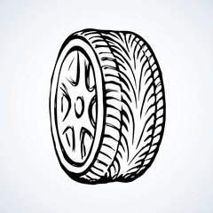 Tire. Vector drawing