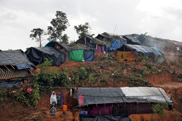 Rohingya refugees are pictured in a camp in Cox's Bazar, Bangladesh