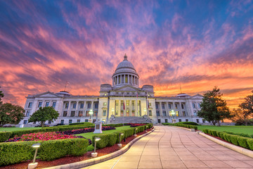 Arkansas State Capitol in Little Rock, Arkansas, USA.