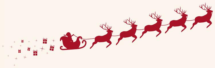 Santa Claus mit Rentieren