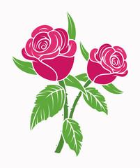 Roses - clip-art vector illustration