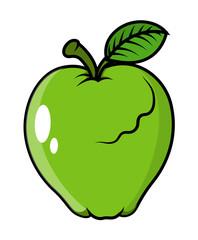 Green Apple - clip-art vector illustration