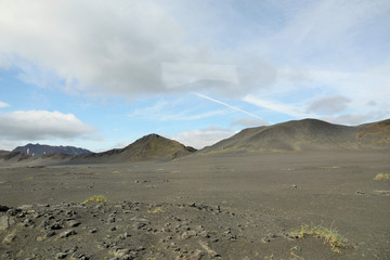 Islande, chaîne de volcans de landmannalaugar