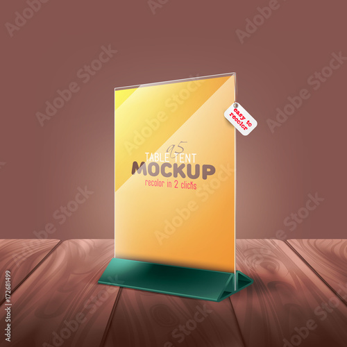 Easy To Chnage Color Table Tent Tabe Stand Menu Card Advertising - Restaurant table advertising