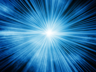 Blue light burst background