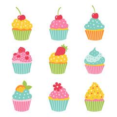 Cupcake set.