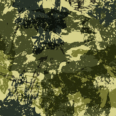 Abstract Military Camouflage Background Made of Splash. Camo Pattern for Army Clothing. Vector