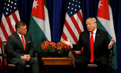 Trump meets with the King of Jordan in New York