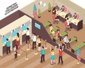 Visa Center Illustration