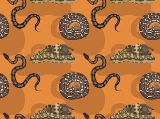 African Python Cartoon Seamless Wallpaper
