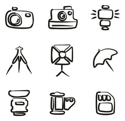 Photography Icons Freehand