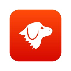 Retriever dog icon digital red