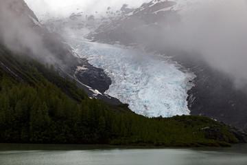 Bear Glacier during foggy weather