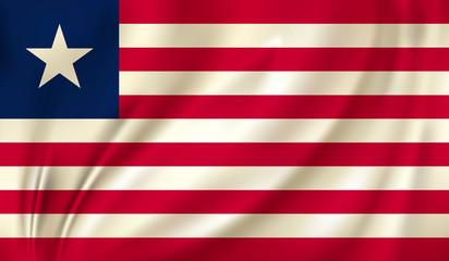 waving flag liberia