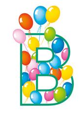 lettera B palloncini compleanno