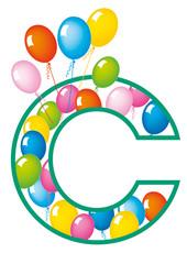 lettera C palloncini compleanno