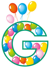 lettera G palloncini compleanno