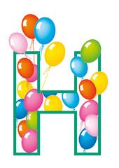 lettera H palloncini compleanno