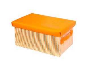 Orange box isolated