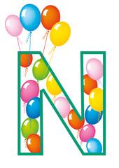 lettera N palloncini compleanno