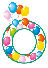 lettera O palloncini compleanno