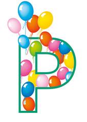 lettera P palloncini compleanno