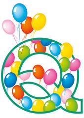 lettera Q palloncini compleanno