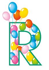 lettera R palloncini compleanno