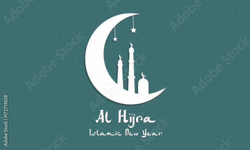 Al hijra islamic new year vector illustration for greeting card al hijra islamic new year vector illustration for greeting card celebration card m4hsunfo