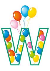 lettera W palloncini compleanno