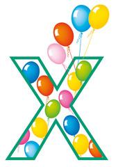lettera X palloncini compleanno