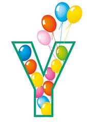 lettera Y palloncini compleanno