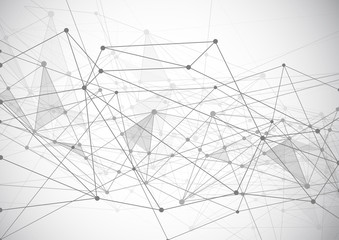 Internet connection and web concept. Digital, Abstract communication sense of science and technology background graphic design with lines and dots. Vector illustration