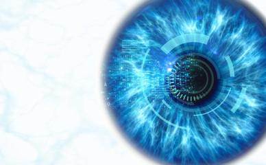 Fond de hotte en verre imprimé Iris Human iris scan, 3d render