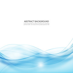 Vector abstract background.Blue abstract wave background.