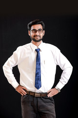 Indian young man on spectacles