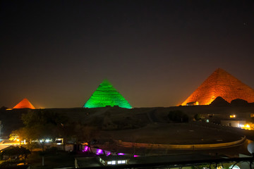 The Great pyramid at night