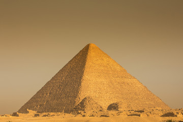 The Great pyramid on sunset