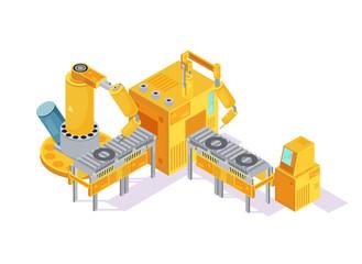 Welding Conveyor Isometric Illustration