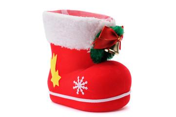 Red Santa's shoe