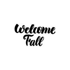 Welcome Fall Handwritten Calligraphy