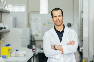 Corporate Portrait of a Biologist in a Professional Laboratory