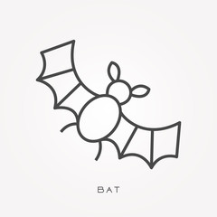 Line icon bat