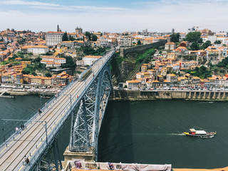 Luiz I bridge in Porto, Portugal