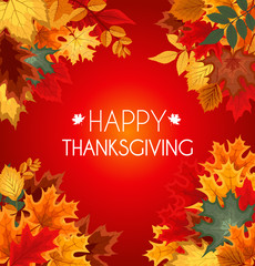Abstract Vector Illustration Autumn Happy Thanksgiving Backgroun