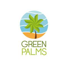 Green palms symbol icon vector illustration graphic design