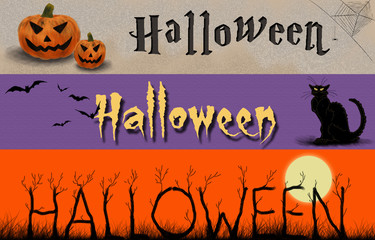 3 bannières halloween