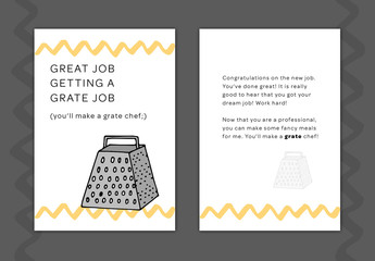 New Job Greeting Card Layout 11